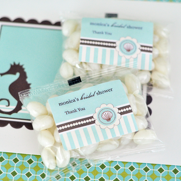 Personalized Jelly Bean Packs - Beach Party wedding favors