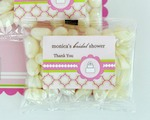 Personalized Jelly Bean Packs - Pink Cake  baby favors