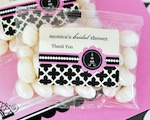 Personalized Jelly Bean Packs - Parisian Party  baby favors