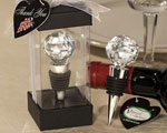 Vineyard Collection Crystal Ball Design Wine Stoppers baby favors