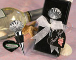 Vineyard Collection Shell Design Wine Stopper Favors baby favors