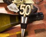 50th Anniversary Wine Bottle Stopper Favors baby favors