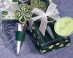 Shamrock / Trinity Love Knot Bottle Stoppers baby favors