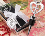 Elegant Heart And Cross Design Wine Bottle Stopper Favors baby favors