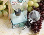 Glass Globe Design Wine Bottle Stopper Favors baby favors
