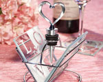 LOVE Design Coaster And Wine Bottle Stopper Sets baby favors