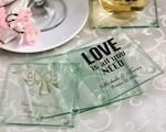 Personalized Glass Coasters baby favors