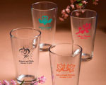 Personalized Pint Glasses baby favors