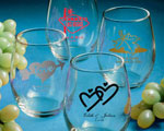 Personalized Stemless Wine Glasses baby favors