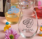 15 Ounce Stemless Wine Glasses baby favors