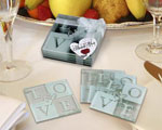 LOVE Glass Coaster Set baby favors