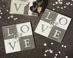 LOVE Glass Coasters (Set Of 2) baby favors