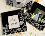 Distinctive Floral Design Photo Coaster Favors baby favors