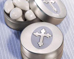 Silver Cross Design Mint Tins baby favors