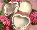 Light For Love Collection Heart Candle Favor Tins baby favors