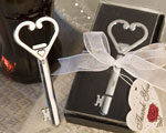 Heart Accented Key Bottle Opener Favors baby favors