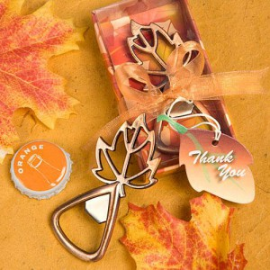 Autumn Magic Collection Leaf Design Bottle Openers wedding favors