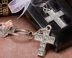 Lustrous Cross Metal Key Chains baby favors
