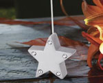 Silver Star Place Card Holders baby favors
