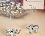 Silver Finish Elephant Place Card Holders baby favors