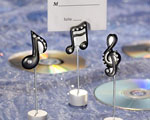 Musical Note Place Card Holders baby favors