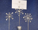 Snowflake Design Place Card Holders baby favors
