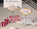 Las Vegas Themed Place Card Holders baby favors