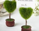 Unique Heart Design Topiary Place Card Holder baby favors