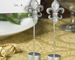 Attractive Fleur Di Lis Place Card Holder Favors baby favors