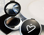 Styling Black Heart Design Compact Mirror Favors baby favors