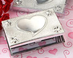 Elegant Reflections Collection Heart Design Mirror Compact Favors baby favors
