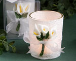 Stunning Calla Lily Design Candle Holder Favors baby favors