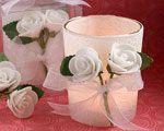White Rose Candle Favors baby favors