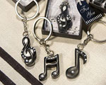 Musical Note Key Chain Favors baby favors