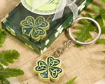 Shamrock/Trinity Love Knot Key Rings baby favors