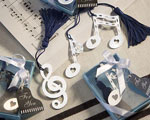 Musical Note Bookmark Favors baby favors