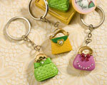 Whimsical Purse Design Keychain Favors baby favors