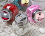 Personalized Glass Jar baby favors