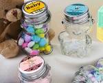 Personalized Teddy Bear Jars baby favors