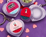Personalized Expressions Collection Heart Design Lip Balm Key Chains baby favors