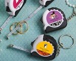 Personalized Expressions Collection Key Chain/measuring Tape Favors baby favors