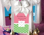 "White ""Delivered With Love"" Boxes From The Personalized Expressions Collection baby favors"