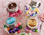 Personalized Expressions Collection Heart Shaped Glass Jars baby favors
