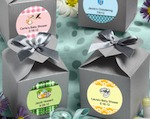 Design Your Own Collection Decorative Boxes - Silver baby favors
