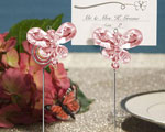 Exquisite Pink Crystal Butterfly Place Card Holders baby favors