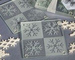 Lustrous Snowflake Glass Coaster Set baby favors