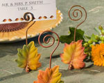 Leaf Design Place Card Holders baby favors