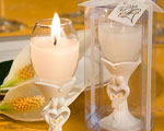 Stylish Bride And Groom Design Champagne Flute Candle Holder Favors baby favors