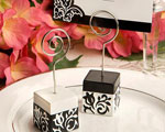 Black And White Damask Design Place Card Holders baby favors