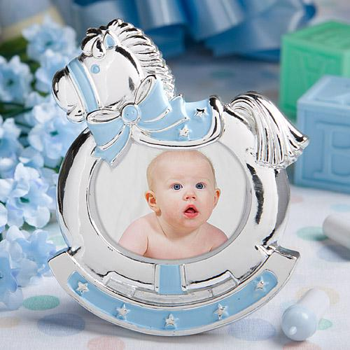 Blue Rocking Horse Frames wedding favors